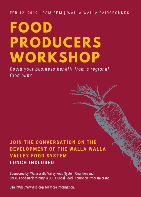 Food Producers Workshop Feb 12th, 2019