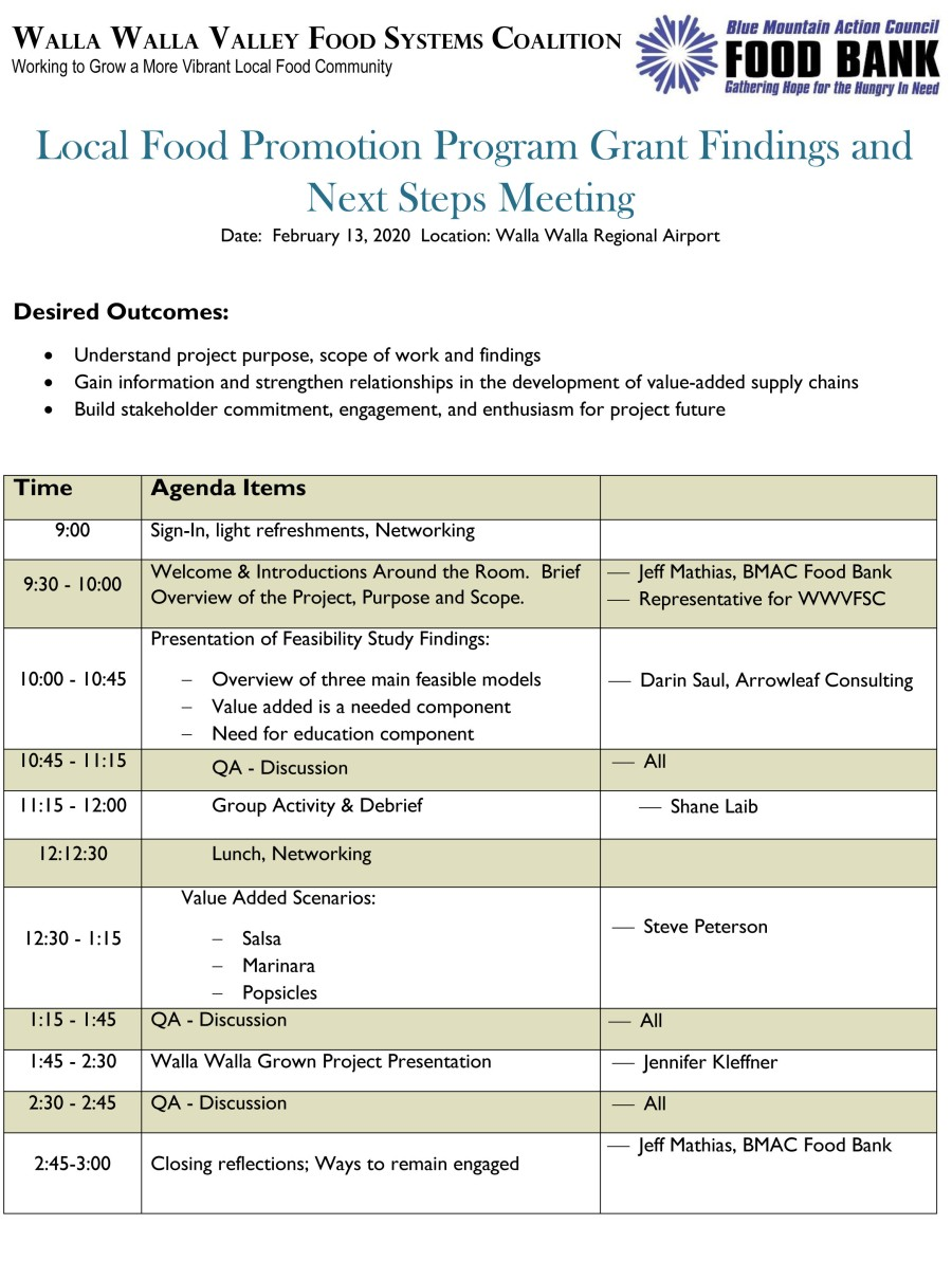 WWLFPP Meeting 2-13-20 event agenda draft